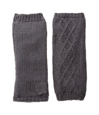 Hat Attack Microfur Arm Warmer Charcoal Extreme Cold Weather Gloves Gray