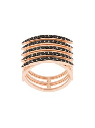 Shaun Leane Quill Black Spinel Ring Gold