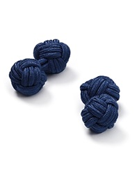 The Men's Store At Bloomingdale's Round Knot Cufflinks Navy