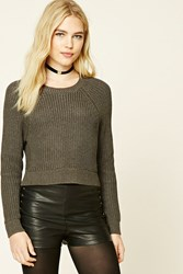 Forever 21 Cropped Crew Neck Sweater