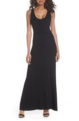 Fraiche By J Open Back Maxi Dress Black