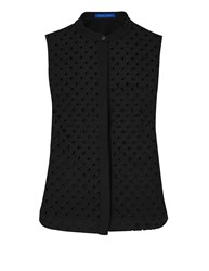 Winser London Broderie Anglaise Sleeveless Top Black
