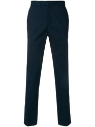 Michael Kors Collection Straight Leg Trousers Blue