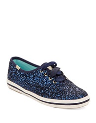 Kate Spade Wedding Lace Up Sneakers Blue