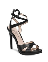 Fergie Naima Leather Ankle Strap Sandals Black