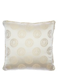 Versace Medusa Royale Silk Pillow Beige