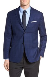 Jack Spade Men's Trim Fit Windowpane Wool Sport Coat