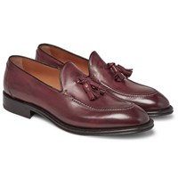O'keeffe Excalibur Leather Tasselled Loafers Burgundy