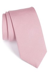 Eton Men's Solid Silk Tie Pink