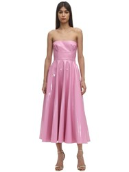 Alex Perry Latex A Line Midi Dress Pink