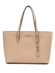 Michael Michael Kors Tv Md Tz Mult Funt Tote Women Leather One Size Nude Neutrals