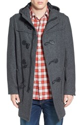 Men's Schott Nyc Satin Lined Wool Blend Duffle Coat