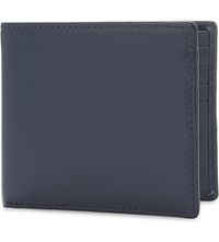 Launer Calf Leather Billfold Wallet Indigo