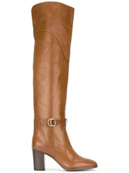 Chloe Over The Knee Boots Brown