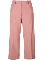 Co Wide Leg Trousers Red