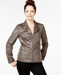 Jm Collection Faux Snake Print Jacket Only At Macy's Hazy Taupe