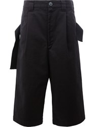Maison Mihara Yasuhiro Loose Fit Cropped Trousers Black