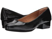 Sofft Belicia Black Soft Charme Luxe Patent Women's Clog Shoes