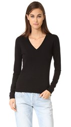 525 America Low V Neck Sweater Black