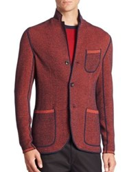 Efm Woolen Knit Blazer Orange
