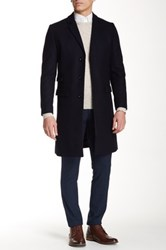 Tiger Of Sweden Dempsey 9 Wool Blend Coat Blue
