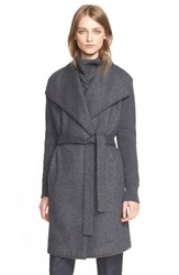 Women's Eleventy Long Asymmetrical Wrap Sweater Knit Coat