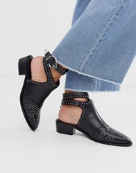 Bronx Cut Out Western Shoes In Black