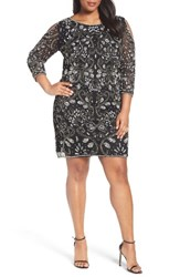 Pisarro Nights Plus Size Women's Embellished Cold Shoulder Dress