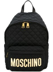 Moschino Quited Backpack Black