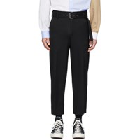 J.W.Anderson Jw Anderson Black Belted Tailored Trousers