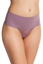 Spanx High Rise Lace Thong Multi