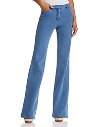 Theory Demitria Flare Jeans In Movement Denim Light
