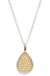 Anna Beck 'Gili' Reversible Teardrop Pendant Necklace Gold Silver