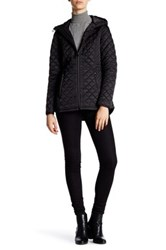 Laundry By Shelli Segal Hooded Short Quilted Jacket Black
