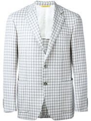Canali Checked Blazer Grey