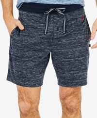 Nautica Men's Space Dyed Sleep Shorts Navy