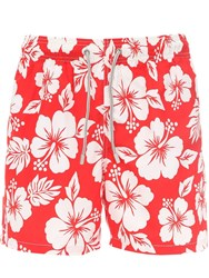 055a68d309 Mc2 Saint Barth Printed Gustavia Hawaii Tech Swim Shorts Array 0X5890b98