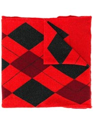 Pringle Of Scotland Argyle Year Of The Pig Scarf Red