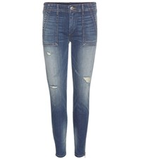 True Religion Halle Mid Rise Jeans Blue