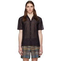 Missoni Navy Check Short Sleeve Shirt