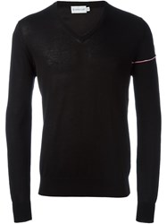 Moncler V Neck Sweater Black