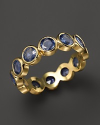 Temple St. Clair 18K Yellow Gold Rose Cut Blue Sapphire Eternity Ring