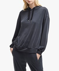 French Connection Faded Jersey Hoodie Washed Black