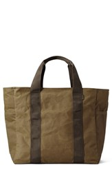 Filson Large Grab 'N' Go Tote Bag Beige Dark Tan Brown