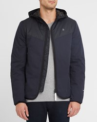 G Star Blue Setscale Hooded And Zipped Quilted Jacket