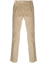 Daniele Alessandrini Corduroy Straight Trousers Nude And Neutrals