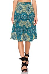 House Of Harlow X Revolve Laya Midi Skirt Green