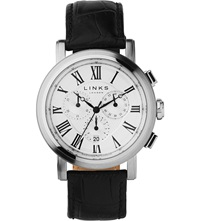 Links Of London Richmond Silver Plated Chronograph Watch White