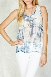 Gypsy05 Sheer Racerback Tank Blue