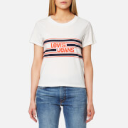 Levi's Women's Orange Tab Graphic Surf T Shirt Marshmallow White